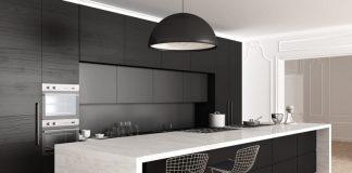 cucina in muratura moderna con isola