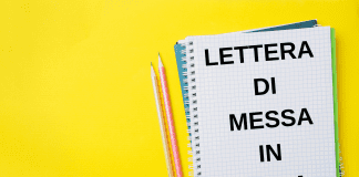 lettera di messa in mora fac simile