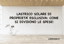 Lastrico Solare di Proprietà Esclusiva spese