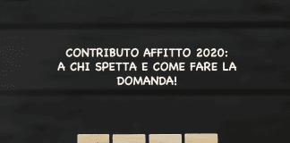 contributo affitto 2020 news