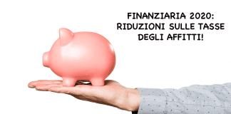 affitti riuzione tasse contratti locazione