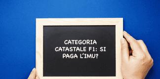 categoria catastale f1 imu