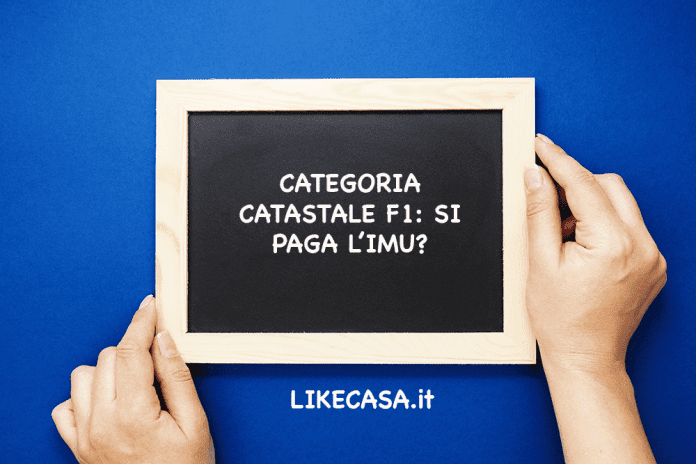 categoria catastale f1 imu