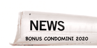 Bonus Condomini 2020 news
