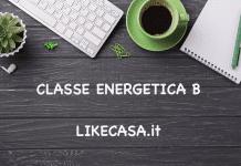classe energetica b quanto consuma