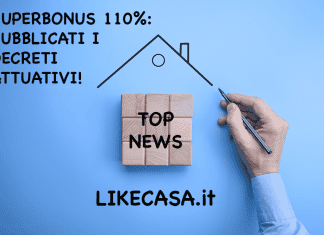 superbonus 110 pubblicati i decreti attuativi in gazzetta